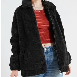 Urban Outfitters Light Before Dark Teddy Coat